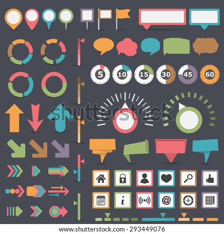 Infographic elements collection, EPS10 - stock vector
