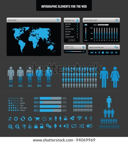 Infographic elements for the web - stock vector