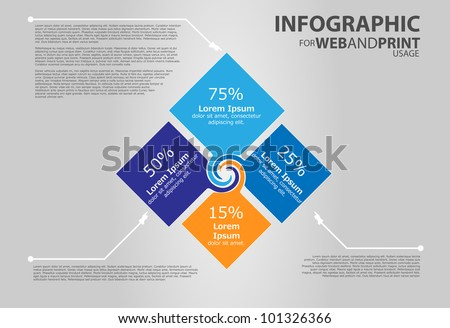 Infographic elements for web and print usage - stock vector