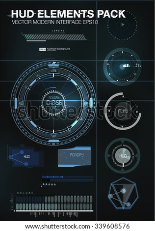 abstract hud ui interface data computer stock vector. Black Bedroom Furniture Sets. Home Design Ideas