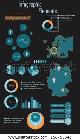 Infographic Elements - Germany vector illustration - stock vector
