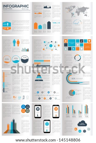 Infographic elements. Vector illustration - stock vector