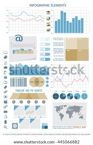 infographic elements, web technology icons. vector timeline option graph, reminder bar code symbol. pie chart info graphic icon. financial statistic and marketing report presentation banner design - stock vector