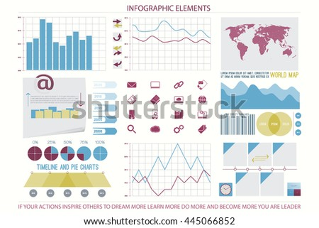 infographic elements, web technology icons. vector timeline option graph, reminder calendar sign. pie chart info graphic icon. financial statistic and marketing report presentation banner design - stock vector