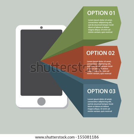 Infographic elements with cell phone - stock vector