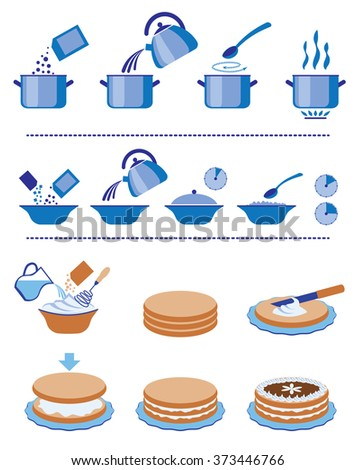 Infographic for manuals on a packing. Set of a vector signs - stock vector
