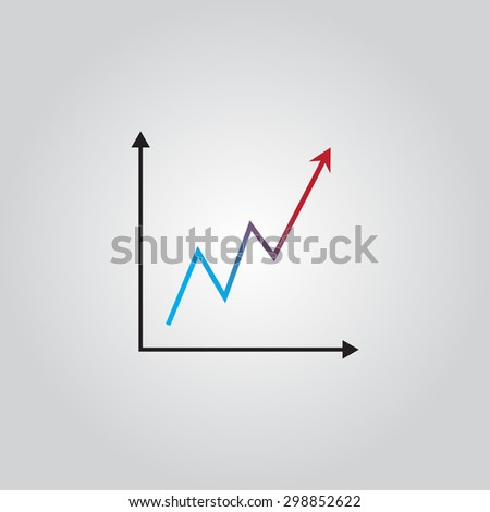 Infographic. Growing graph shows profit. Vector illustration. - stock vector