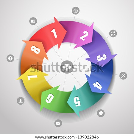 Infographic modern color scheme template - stock vector