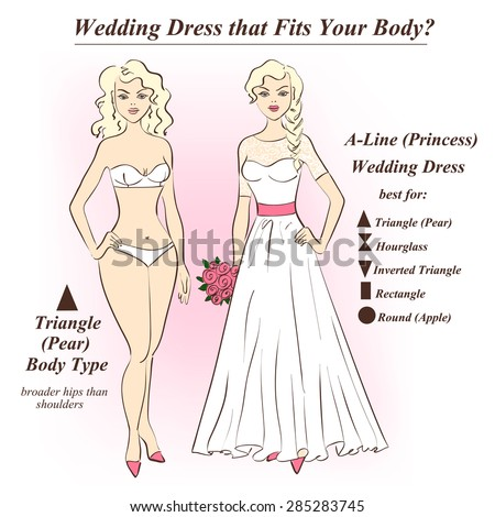 Infographic A Line Princess Wedding Dress That Stock Vector ...
