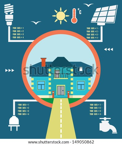 Infographic of energy home - vector illustration - stock vector