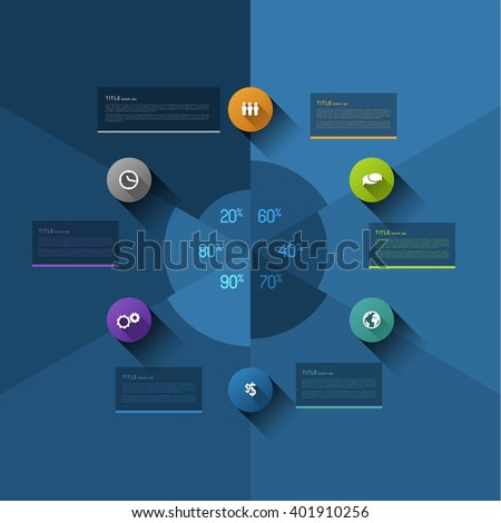Vector Timeline Template Layout Much Space Stock Vector 144861208