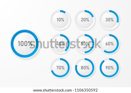 infographic pie chart templates can be stock vector 1106350592