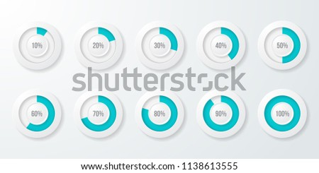 infographic pie chart templates can be stock vector 1138613555