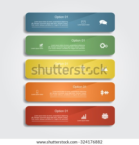 Infographic report template layout. Vector illustration Eps - stock vector
