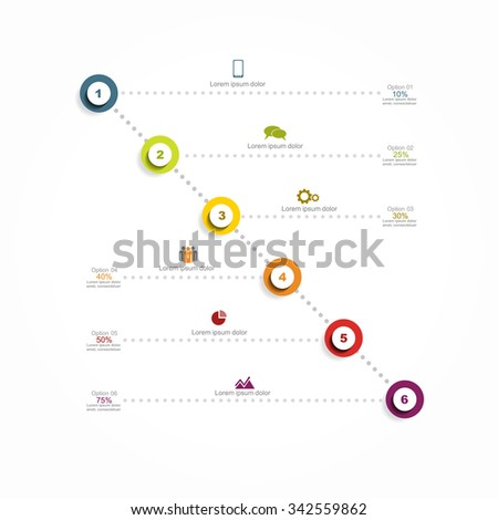 Infographic report template with place for your data. Vector illustration - stock vector