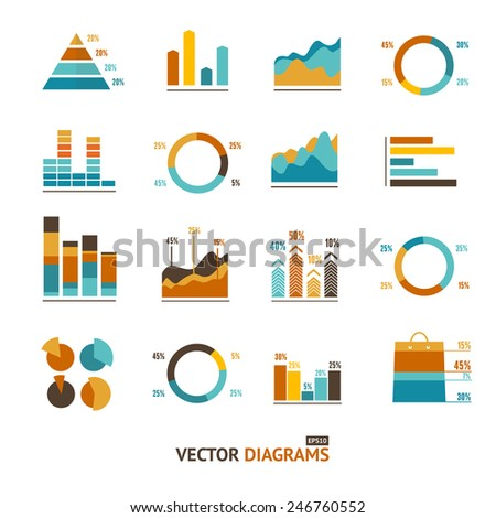 Infographic set elements, Graph and Charts, Diagrams.  - stock vector