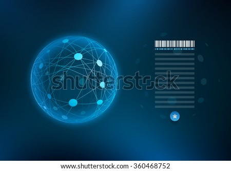 Infographic sphere with connected dots and lines. Elements are layered separately in vector file. - stock vector