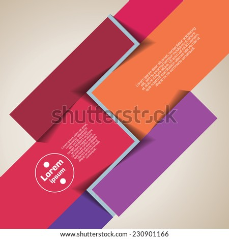 infographic template - stock vector
