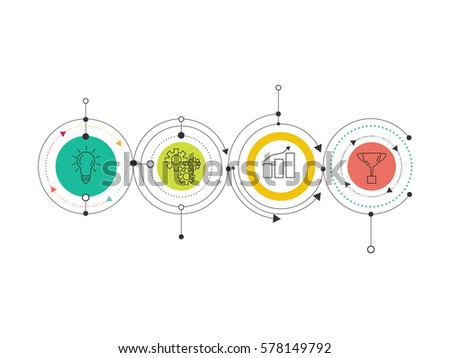 Infographic template business concept diagram vector stock vector infographic template business concept diagram vector eps 10 maxwellsz