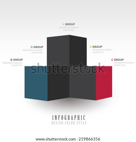 infographic template  2 color