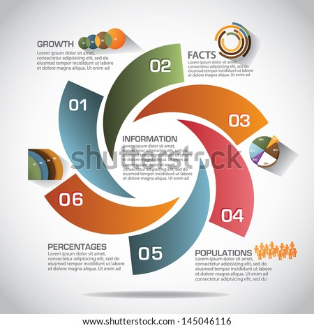 Infographic template. EPS 10 vector, grouped for easy editing. No open shapes or paths. - stock vector