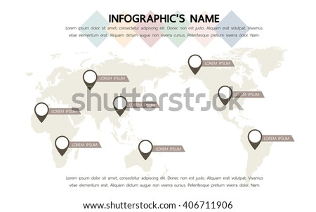 Infographic template, Eps10, vector illustration, For presentations, brochures, banners, website graphics. - stock vector