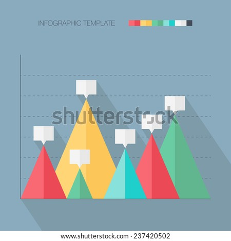 Infographic template. Flat design. Vector illustration - stock vector