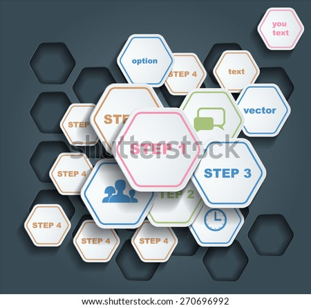 Infographic template for business design.  - stock vector