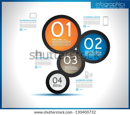 Infographic template for statistic data visualization. Modern composition to use like infochart, product ranking page or background for performance data graphics. - stock vector