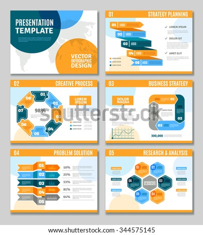 Infographic template presentation set business strategy stock photo infographic template presentation set with business strategy creative process and problem solution symbols flat isolated vector friedricerecipe Images