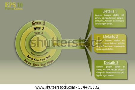 Infographic template. Well organized eps 10 document with descriptive layer names for quick and easy modifications - stock vector