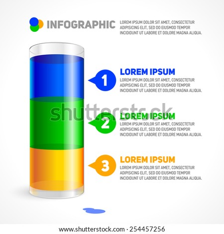Infographic Template with glass. - stock vector