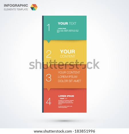 Infographic template with place for your content vector eps10 - stock vector