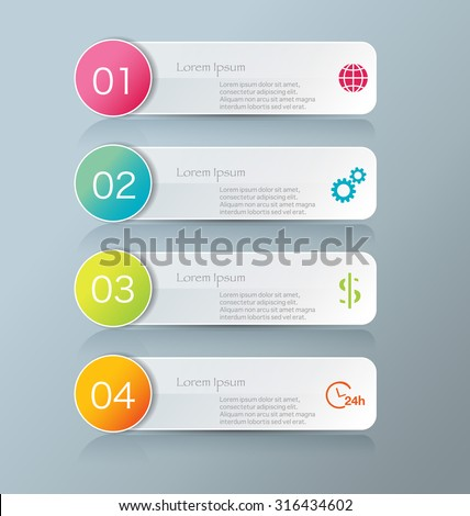 Business Infographics Template Presentation Education Web Stock