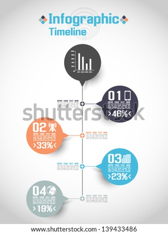 INFOGRAPHIC TIMELINE CONCEPT 2 - stock vector