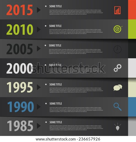 Infographic timeline. tapes concept. Vector template