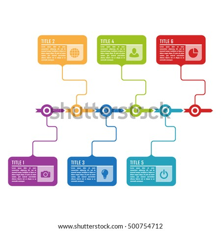 Infographic Timeline Template Can Be Used For Chart, Diagram, Web Design,  Presentation,
