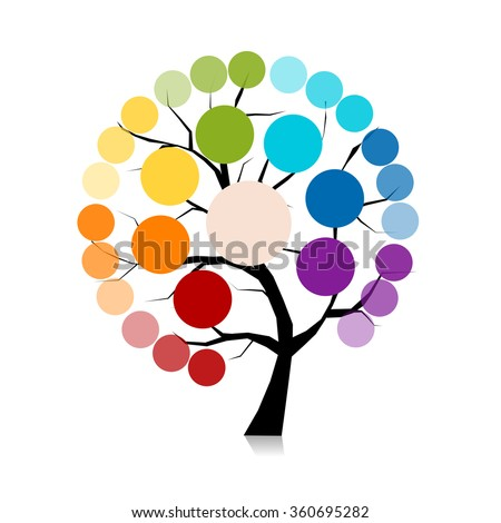 Infographic tree for your design - stock vector