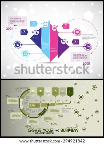 Infographic vector - stock vector