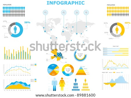 infographic vector collection charts - stock vector