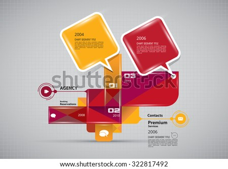 Infographic, Vector design template - stock vector