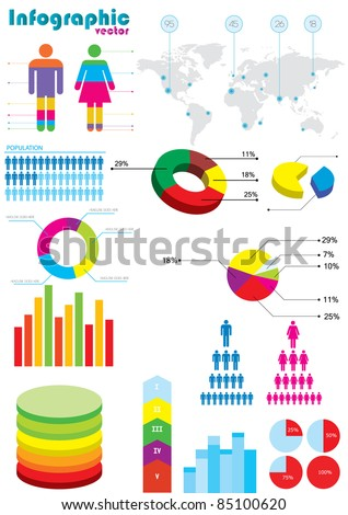 infographic vector elements - stock vector