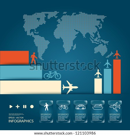 infographic vector traffic set - stock vector