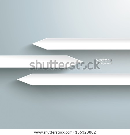 Infographic with white arrows on the grey background. Eps 10 vector file. - stock vector