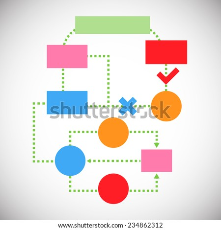 Infographic world stats - stock vector