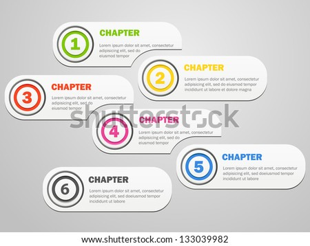 Infographics banners design with icons - stock vector
