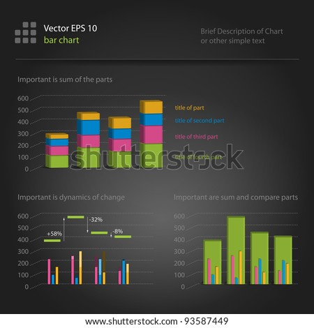 infographics, bar chart - stock vector