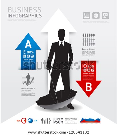 Infographics Business and financial / Vector illustration. concept - stock vector