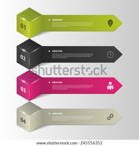 Infographics. Business step options. Vector illustration - stock vector