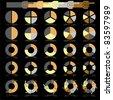 infographics  - colorful progress pie - stock vector